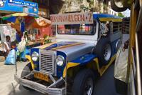 実習中の移動手段でフィリピンでは一般的な交通手段のジプニー