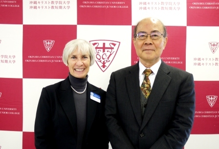 Louise Pagotto 新学長と友利学長