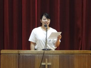 閉講式:受講生によるスピーチ